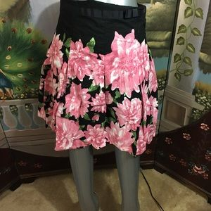 Speechless  Pleated Skirt Black w/ Pink